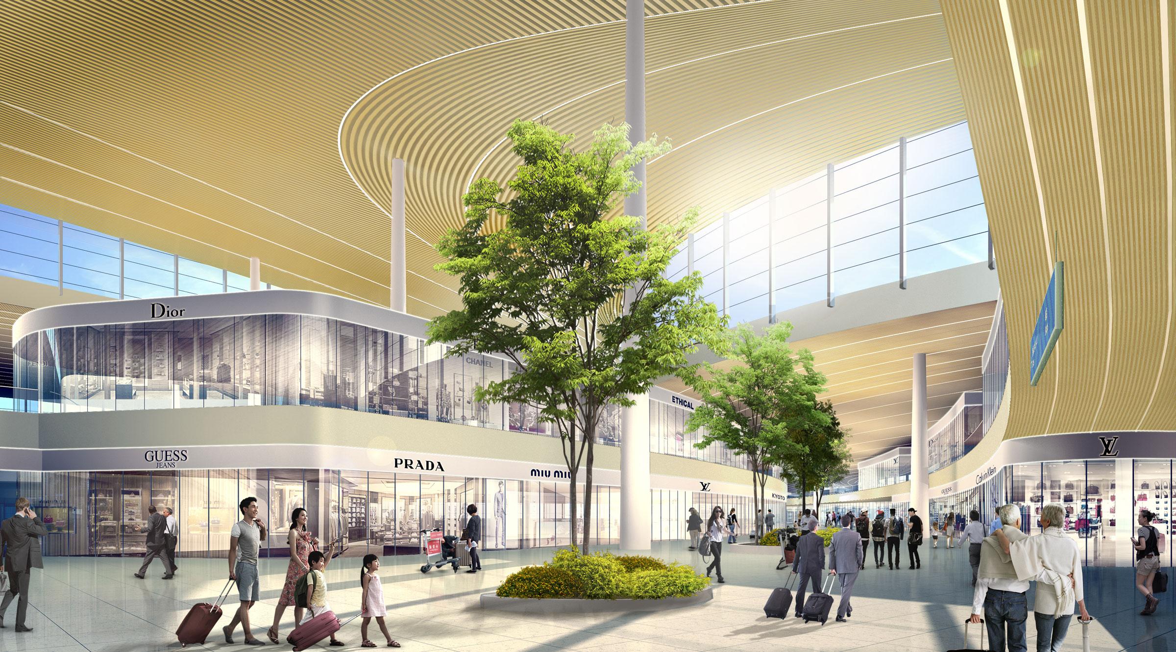 Xian Aeroporto : Xi an xianyang international airport east terminal aedas