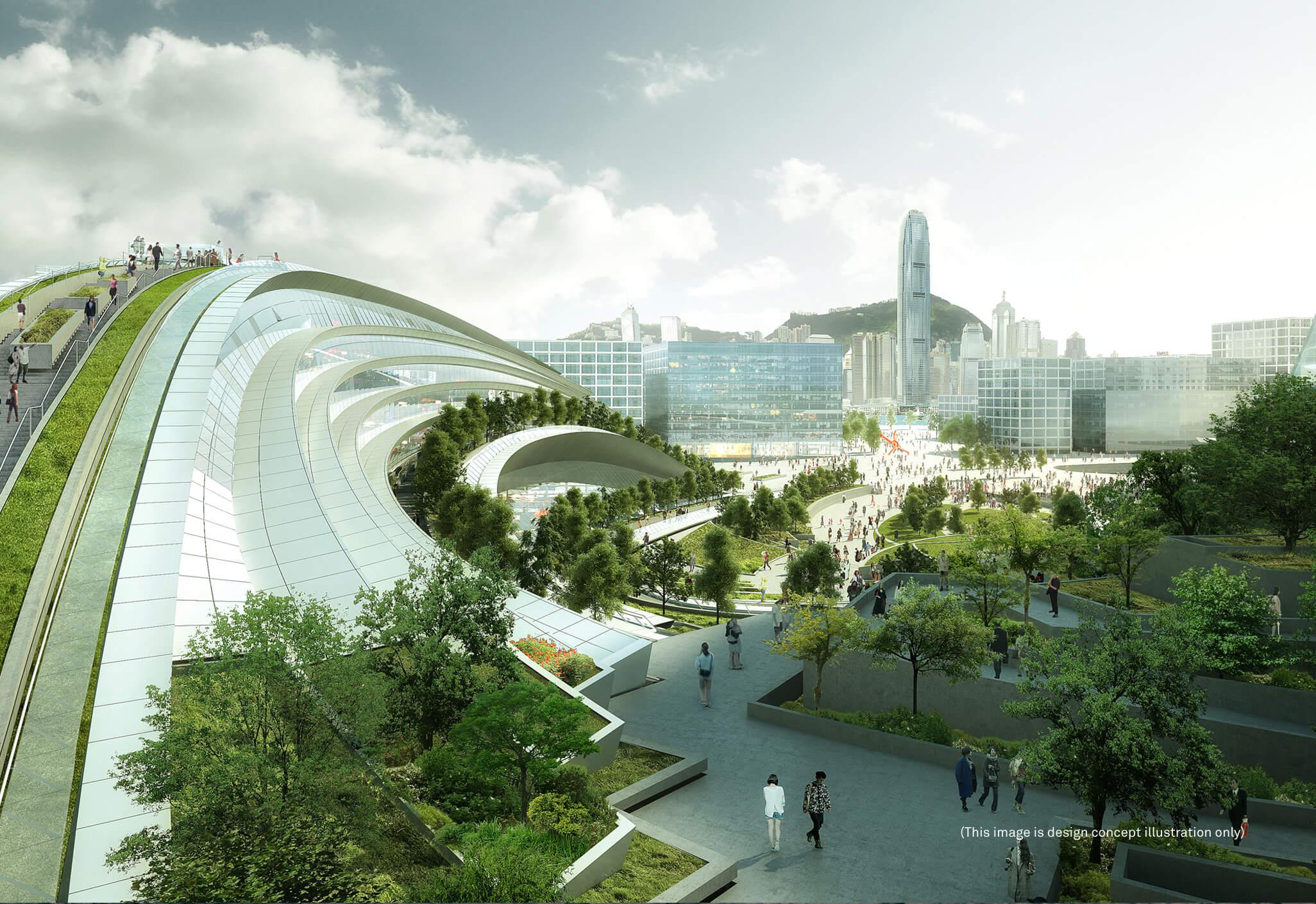 The West Kowloon Terminus Under The Hong Kong Section Of